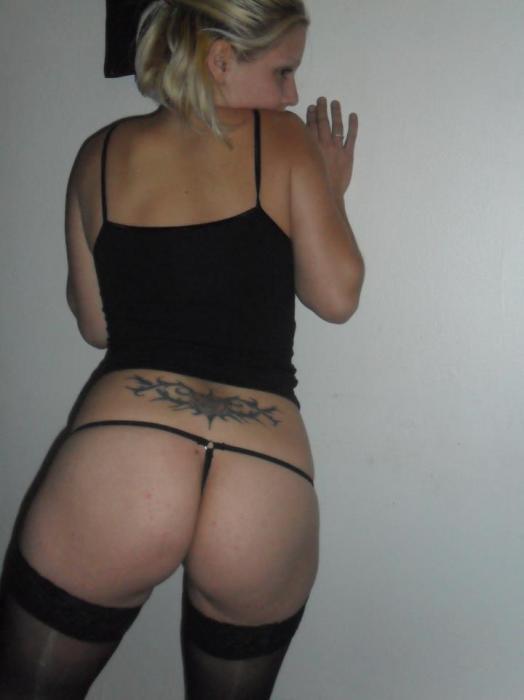 Violent bondage and mature blonde blowjob